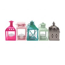 Set felinare Mini Houses Pastel