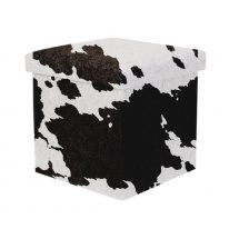 Taburet cu depozitare Cow print