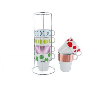 Set pentru cappuccino Dots & Stripes