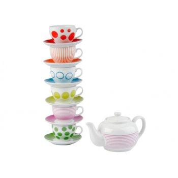 Set pentru ceai Dots & Stripes