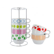 Set caffe latte Dots & Stripes