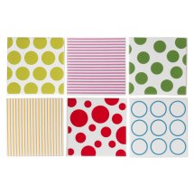 Set suporturi pahare coster Dots & Stripes