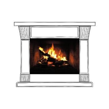 Sticker Perete Fireplace