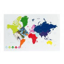 Panou memo board World Map